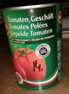 Test gepelde tomaten in blik - Blikje DelMonte gepelde tomaten