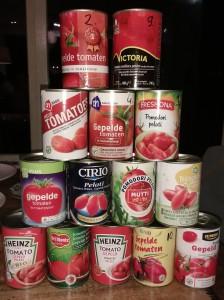 Test gepelde tomaten in blik - 14 soorten blikjes gepelde tomaten bij elkaar