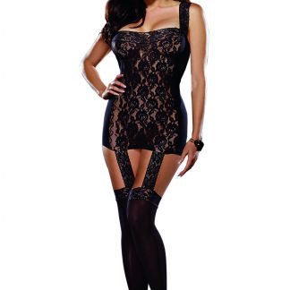 Sheer and Lace Garter Dress