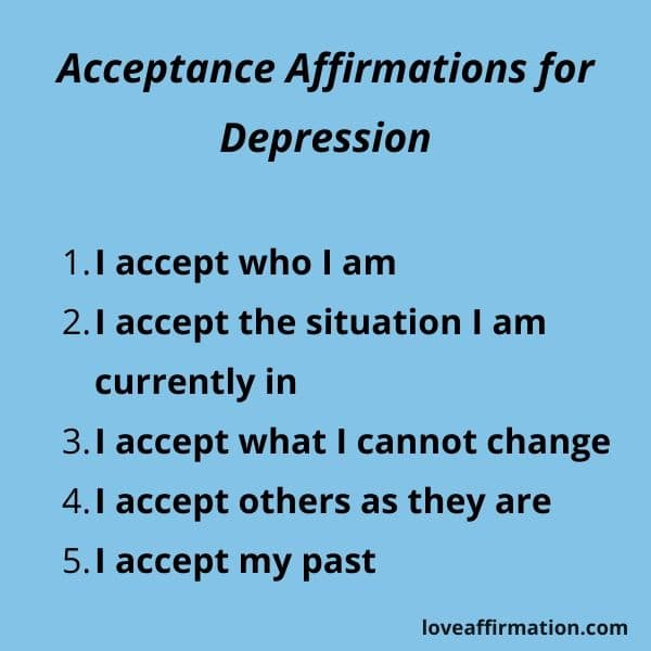 acceptance affirmations for depression