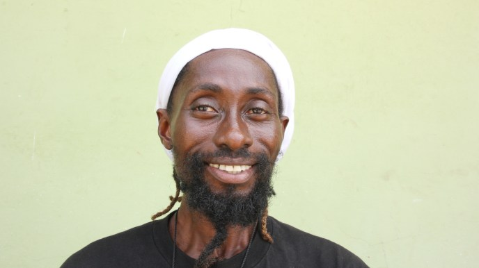 Love Africa Project local volunteer and Ghana native, Ras Kofai is helping to end open defecation in Salt Pond, Ghana, West Africa