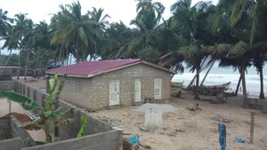 Public washroom build in Lower Saltpond, Ghana