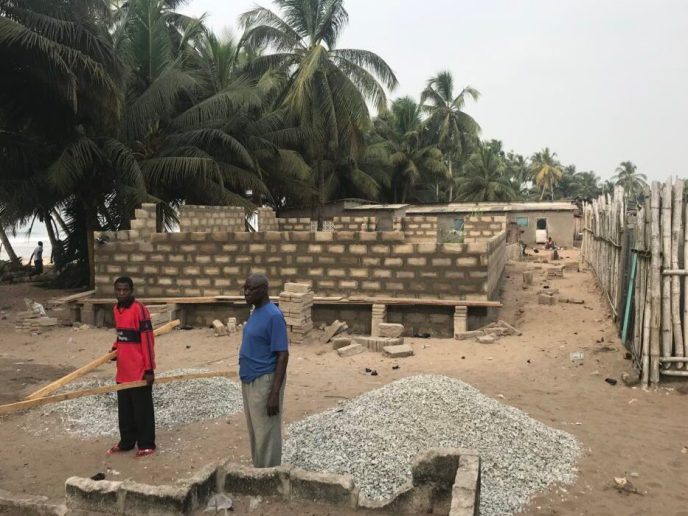 Walls continue to go up on public washroom build to stop open defecation in Saltpond