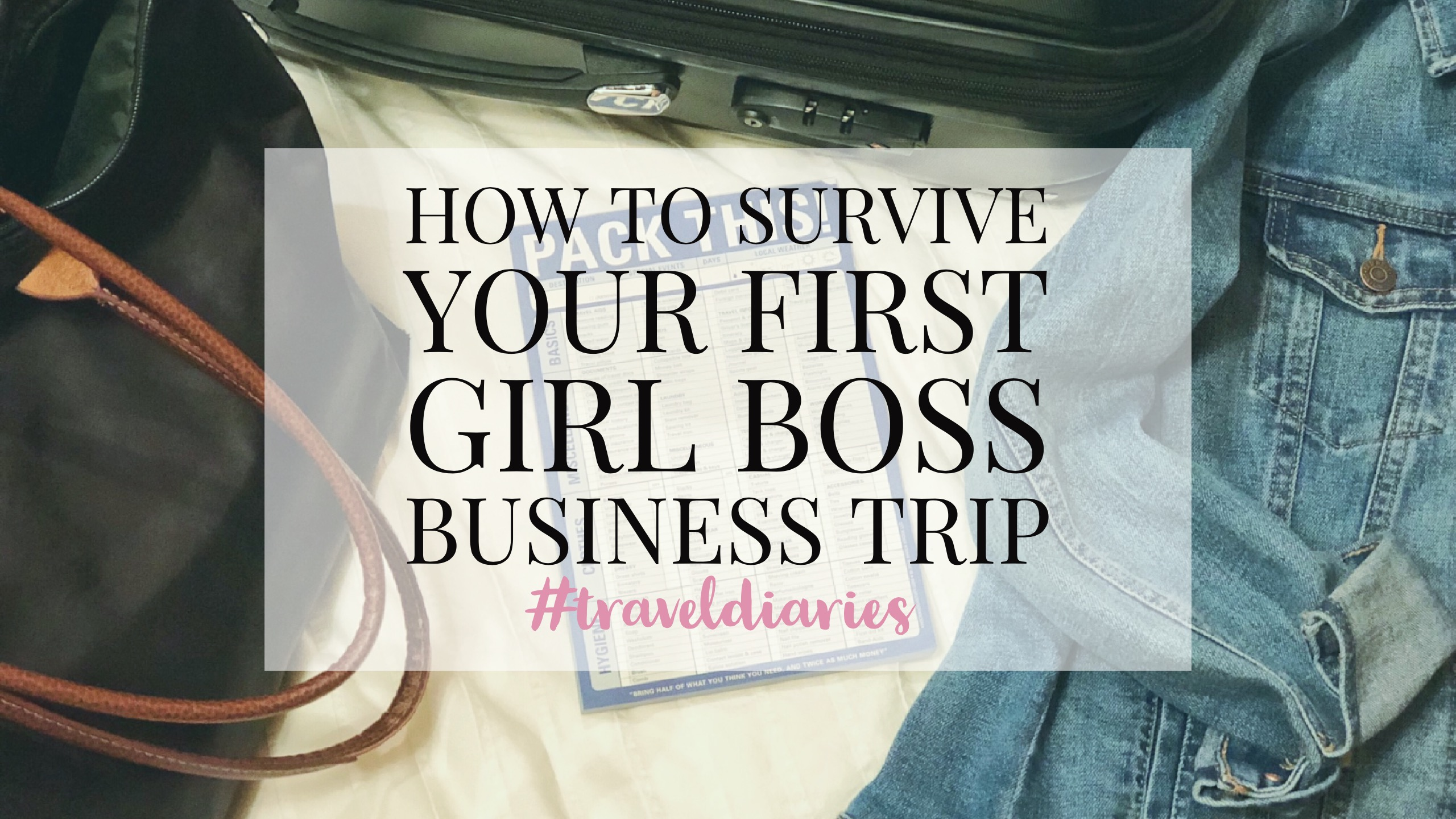 survive your first business trip