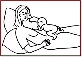 Breastfeeding positions - laid back