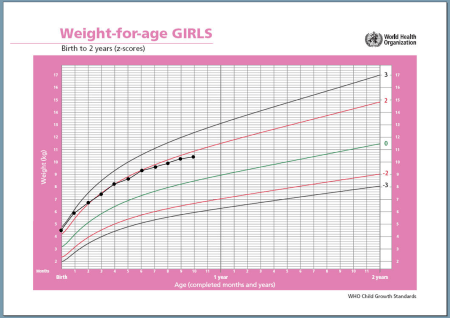 growth chart large baby