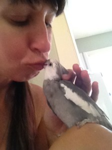 Birdie welcome home kisses are the BEST.