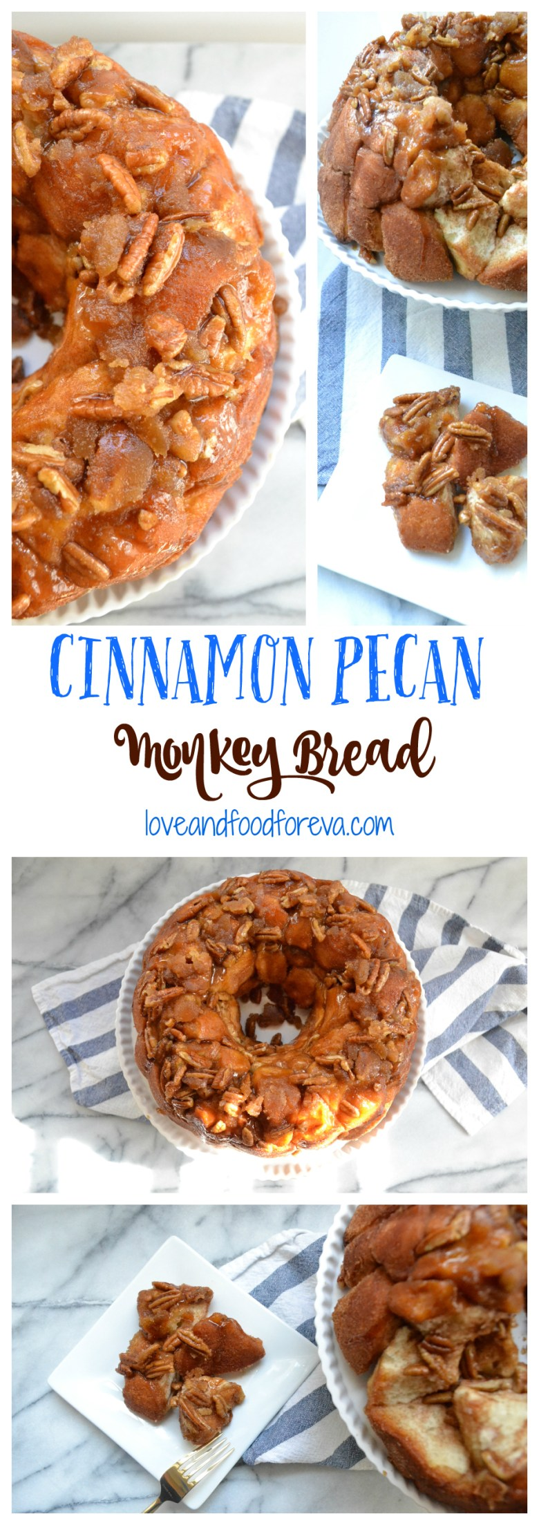 Cinnamon Pecan Monkey Bread - so easy to make and guaranteed to be a crowd favorite!