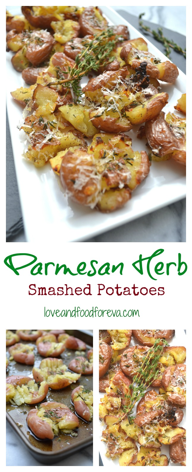 Parmesan Herb Smashed Potatoes - sure to be a crowd favorite!