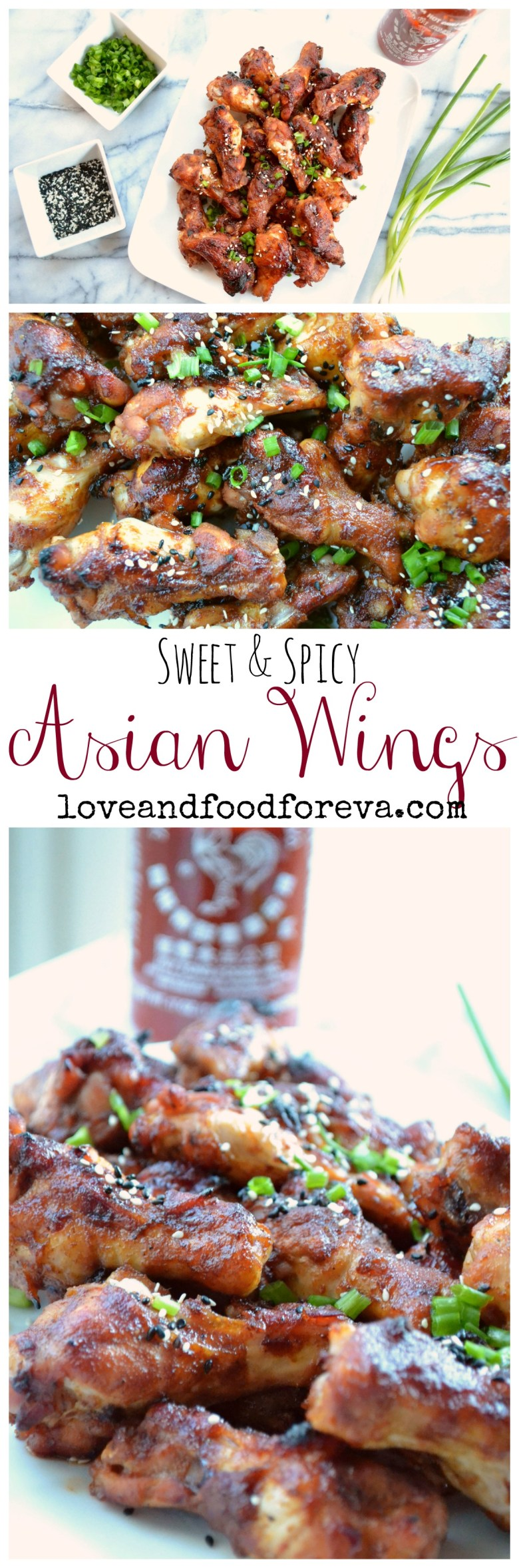 Sweet & spicy Asian Wings - perfect for game day!