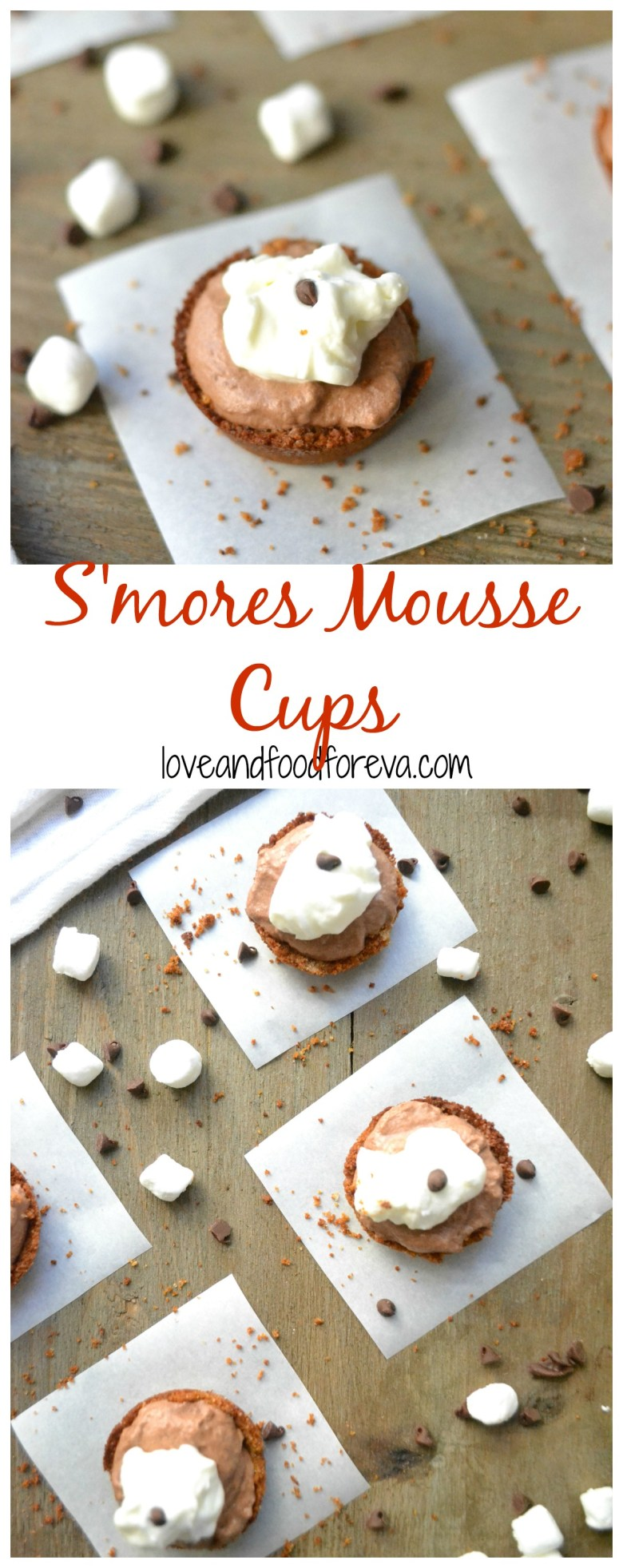 S'mores Mousse Cups are a fun, new way to enjoy a classic childhood favorite!