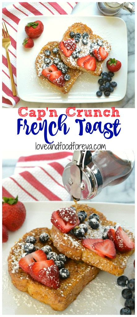 French toast coated in sweet cereal and fried to crispy perfection!