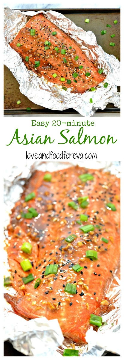 This simple and satisfying recipe for Asian Salmon will become your new best friend for weeknight dinners: ready in under 20 minutes!