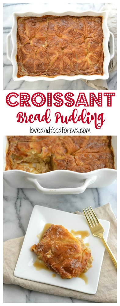 Give your guests something special and a little unexpected with this Croissant Bread Pudding, served with a silky, sweet caramel sauce!