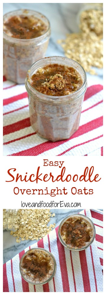 Tired of the usual breakfast routine? Try this healthy Snickerdoodle Overnight Oats recipe - you need just a couple of ingredients and a few minutes prep!