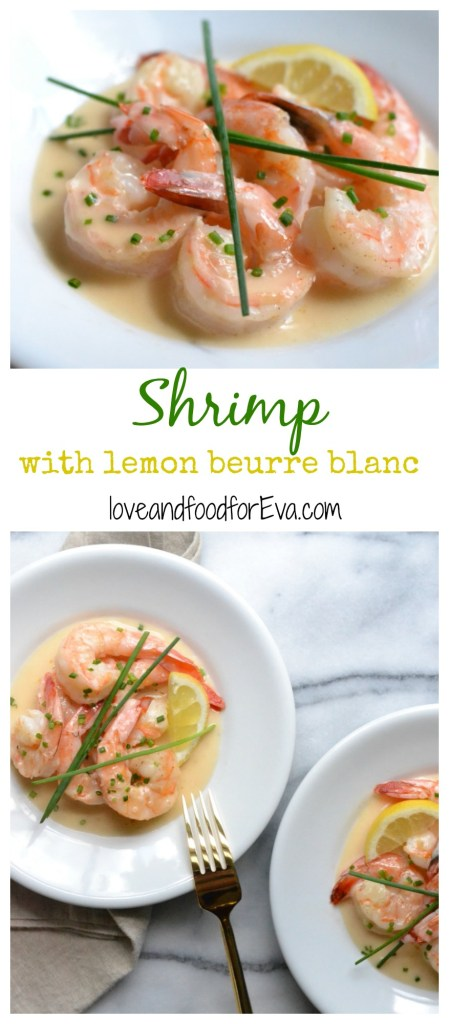 Make a romantic dinner at home this Valentine's Day with this simple, tasty, and impressing Shrimp with lemon beurre blanc sauce!