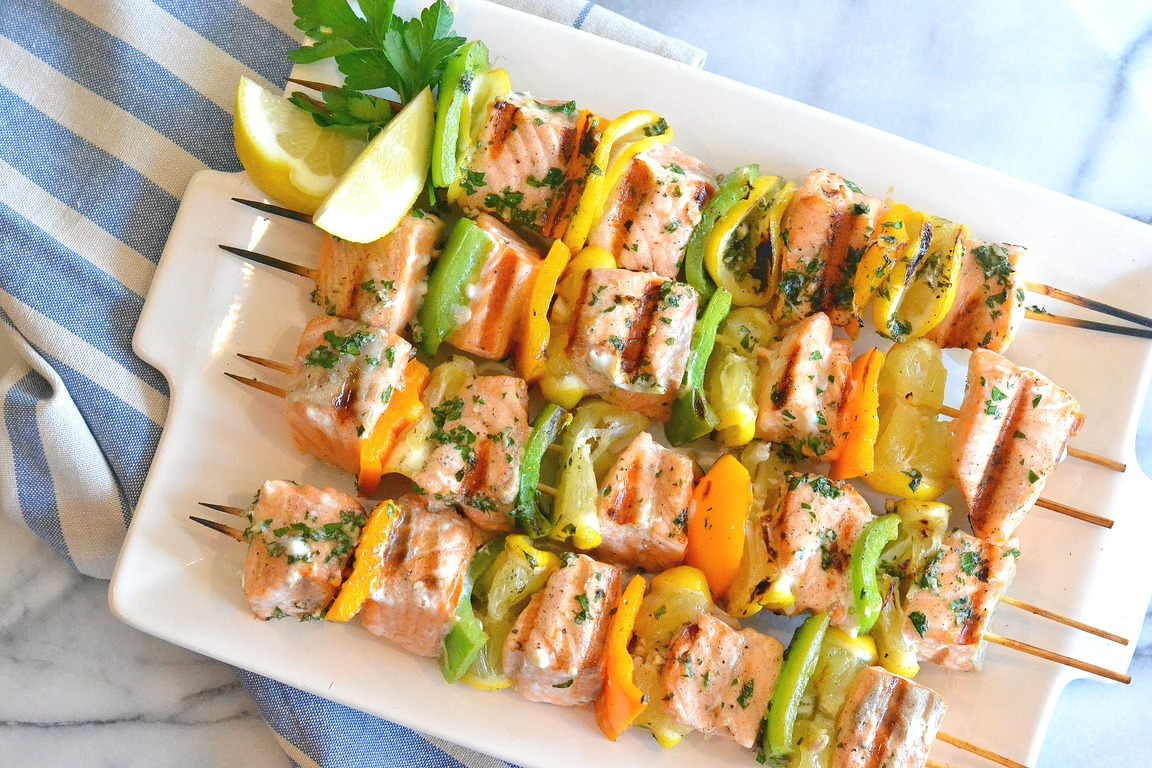 Easy Salmon Kebabs