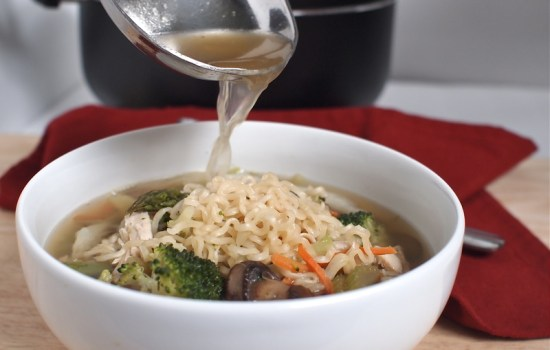 Love and Chicken Vegetable and Ramen Soup