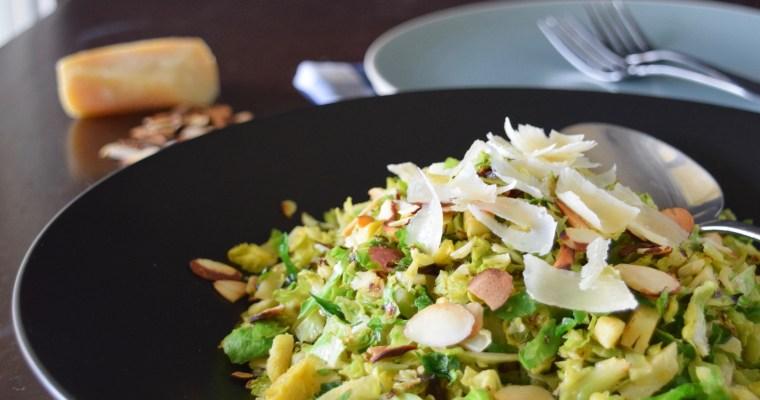 Warm Brussels Sprout & Mushroom Salad