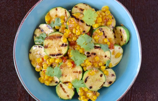 Grilled Zucchini with Corn Salsa