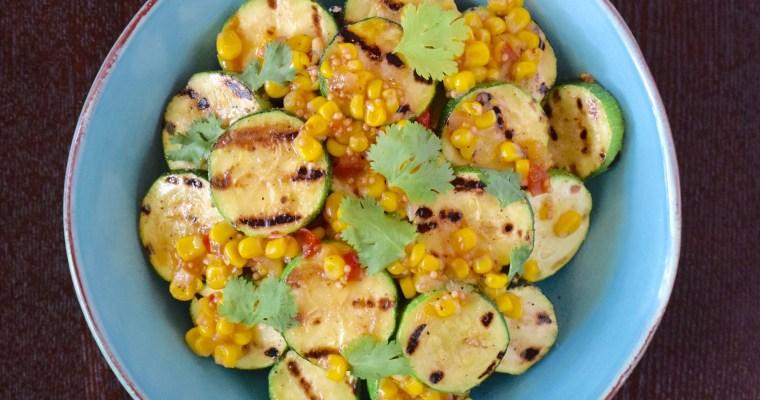 Grilled Zucchini with Corn Salsa