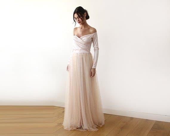 5 Peach Wedding Dresses We're Blushing Over