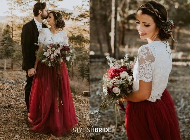5 Romantic Red Wedding Dresses