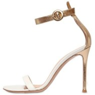 Gianvitto Rossi Two Tone Gold and Ivory