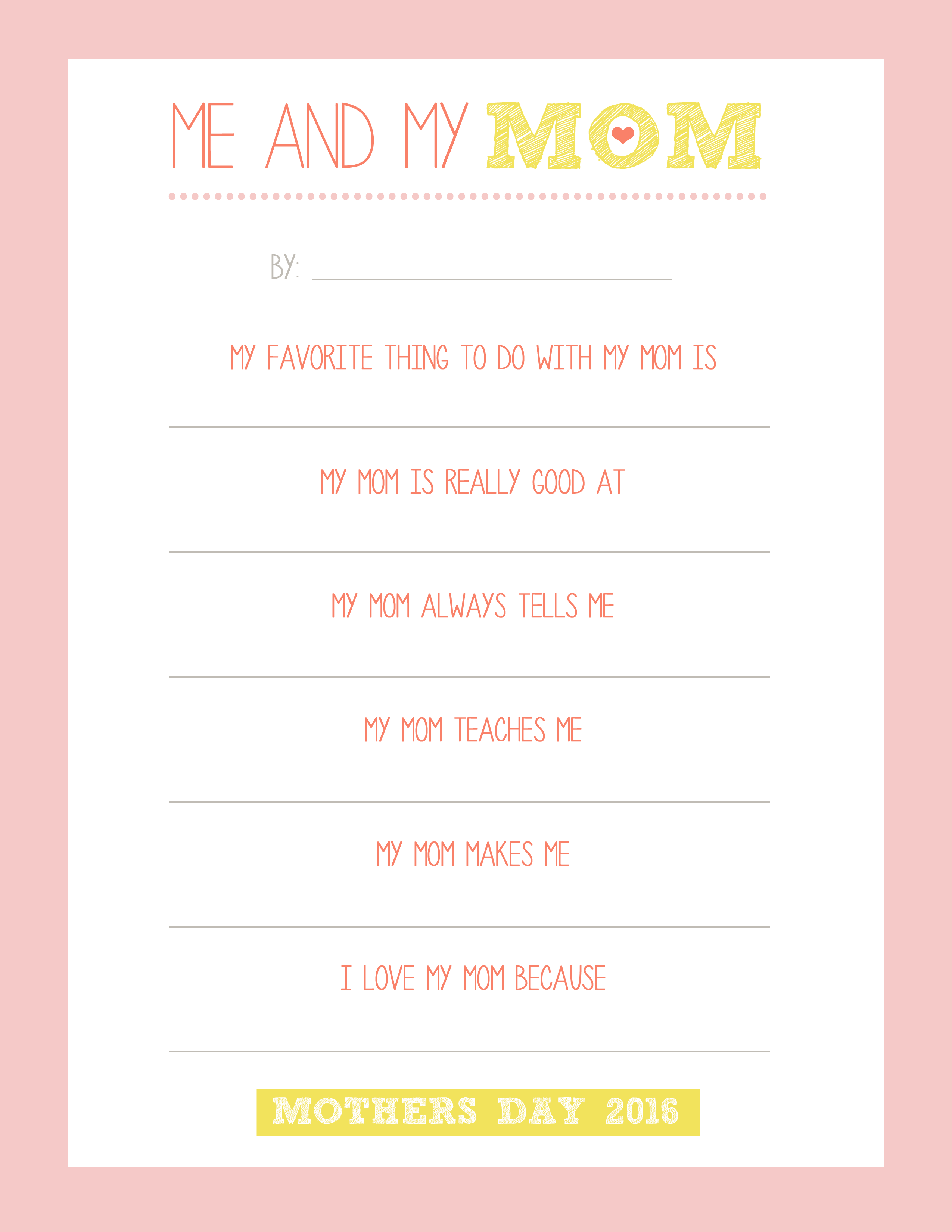 Mother S Day Free Printable