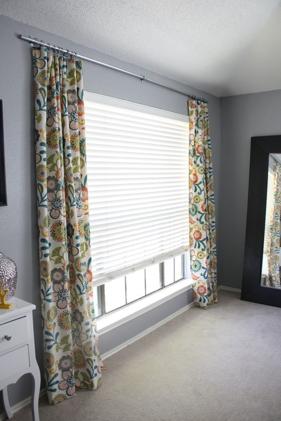 Remodelaholic | Make A Homemade Curtain Rod For Under $10