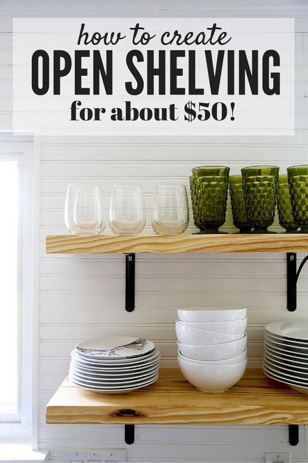 DIY Open Shelving A Quick Tutorial Love Amp Renovations