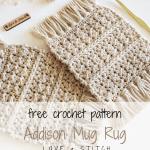 The Addison Mug Rug Crochet Pattern Love Stitch