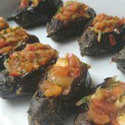 fyldte mini auberginer
