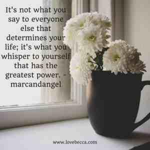 self love talk quote