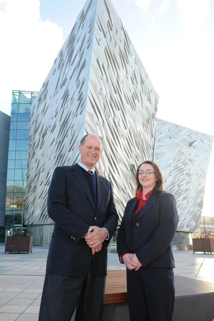 Dr Robert Ballard with Titanic Belfast OEC Manager Susan Heaney