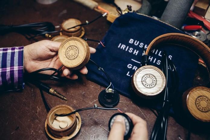 Bushmills x Grado Labs Headphones handcrafted in the Grado Labs Factory