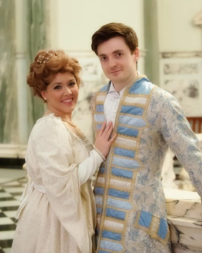 Introducing Alice Johnston as Cinderella and her Prince, Samuel Moore.