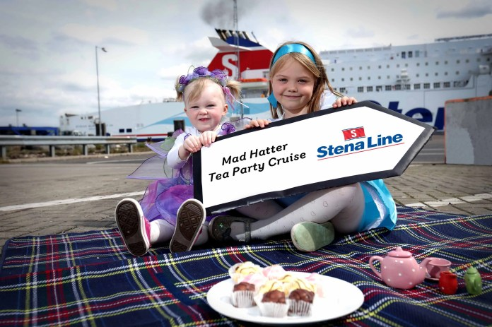 Tilly and Lucy Hunniford from Killinchy get ready to take part in one of the Stena Line Kids Cruises
