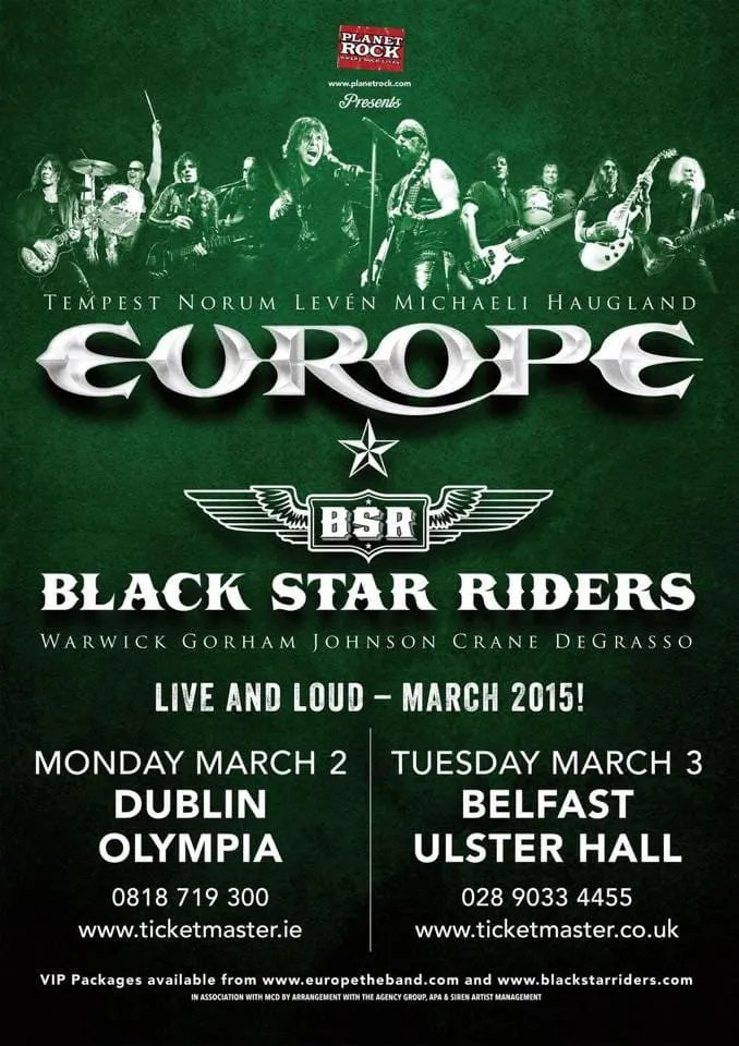 Europe and Black Star Riders
