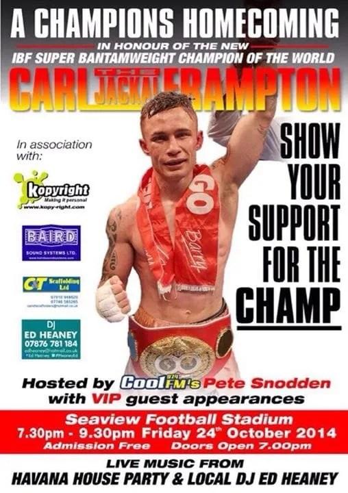 Carl Frampton Seaview Belfast