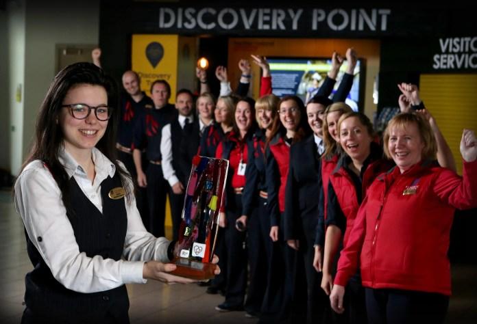 Titanic_Belfast_staff_celebrate_UK_Customer_Experience_Award_win2