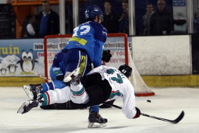 © Diane Davey/ddimaging.co.uk - Adam Keefe, Giants Captain, takes a shot on goal during Sunday's Elite League game in Coventry.