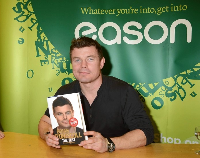 Brian O'Driscoll at Easons