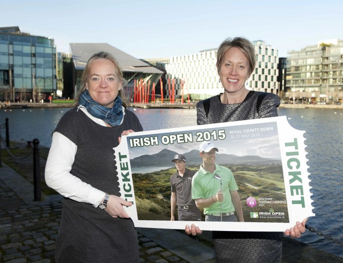 Irish Open Championship Director Antonia Beggs and NITB's Chief Operating Officer Kathryn Thomson are urging golf fans to book their tickets soon