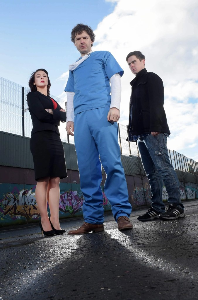 Richard Clements, Roisin Gallagher and Darren Franklin Stitched Up 1