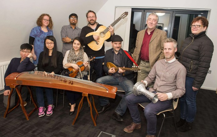 Neil Martin Musical Director (back second right) is pictured with some of the musicians who will be performing on 24th March at the Linen Hall Library Performance Space.