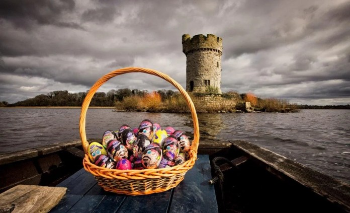 Cot boat on the  Fermanagh lakelands, Crom, please credit Brian Morrison