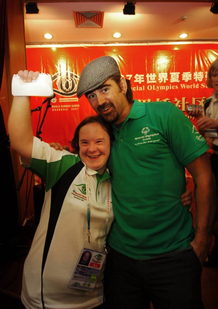 Colin Farrell meets Special Olympics in China