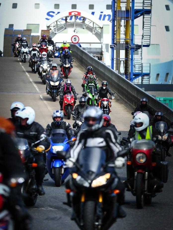 North West Bikers Arrival in Belfast
