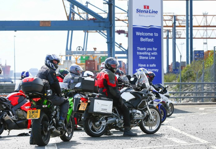 """Hundreds of bikers ride off the Stena Superfast V111 at the Stena Line VT4 terminal, Belfast to make their way to the Vauxhall North West 200, one of Northern Ireland's largest outdoor sporting events which attracts thousands of spectators from all over the UK and Ireland each year. Stena Line will transport over 2,300 bikers over the next few days on its Cairnryan to Belfast and Liverpool to Belfast routes and more motorcycle enthusiasts than ever are travelling to the world renowned event via Stena Line with the number of bikers on board this year increasing by over 26% compared to last year.  The number of visitors expected to attend the event are approximately 54,000 including 17,000 from outside of NI.   Stena Line's Head of Communications & PR, Diane Poole OBE commented: """"The North West 200 is an iconic event for Northern Ireland and we are delighted that we can help ensure as many bikers as possible get to sail over and enjoy what is set to be a fantastic weekend.  """"When travelling with Stena Line, they experience a comfortable, smooth sailing in relaxed surroundings which is sure to set them up for the busy weekend ahead,"""" added Diane. For more information on Stena Line or to book your ferry travel go to www.stenaline.co.uk or call 08447 70 70 70"""